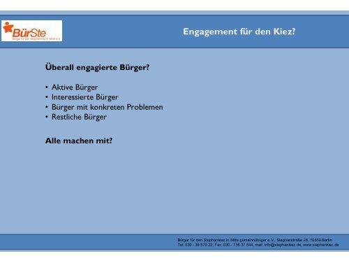 Ideen zur Stärkung der Bürgerbeteiligung durch Bürgervereine von ...