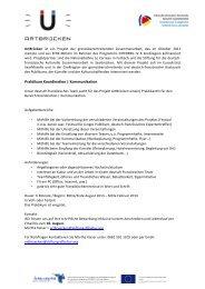 Praktikum Koordination   Kommunikation - QuattroPole
