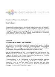 Manuskript der Migratour Saarbrücken - QuattroPole
