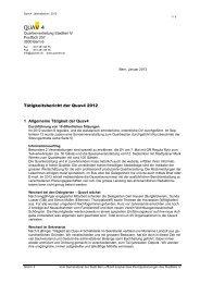 Tätigkeitsbericht 2012 - QuaVier