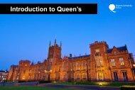 Introduction to Queen's - Queen's University Belfast