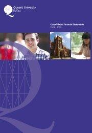 Download PDF 2008-2009 - Queen's University Belfast