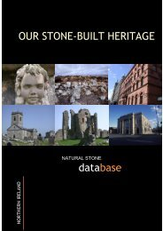Our stone-built heritage. Common building stone types in Northern ...
