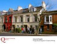 MA brochure - Creative Writing - Queen's University Belfast