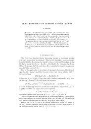 Third homology of general linear groups - Queen's University Belfast