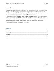 Outlook Web Access – An Introductory Guide - Queen's University ...