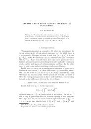 VECTOR LATTICES OF ALMOST POLYNOMIAL FUNCTIONS. 1 ...