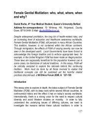 Female Genital Mutilation - Queen's University Belfast