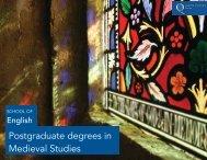 PG brochure - Medieval Studies 1415 - Queen's University Belfast