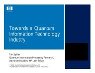 Towards a QIT industry