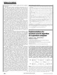 Implementation of a quantum search algorithm on a quantum ...