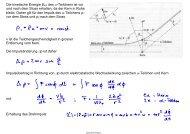 Die kinetische Energie Ekin des α-Teilchens ist vor und nach dem ...
