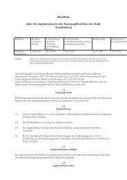 (5.12 Richtlinie über die Jagdnutzung) - Quedlinburg