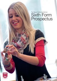 6th Form Prospectus - The Queen Katherine School