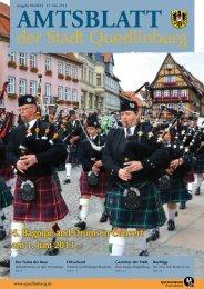 der Stadt Quedlinburg