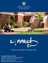 Connect—Faculty-Student Interaction - Queens University of Charlotte