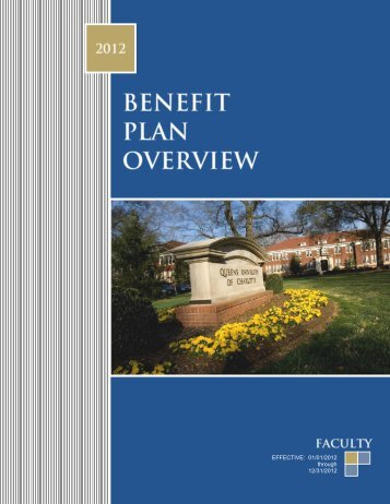 BENEFIT PLAN OVERVIEW - Queens University of Charlotte