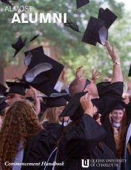 Commencement Handbook - Queens University of Charlotte