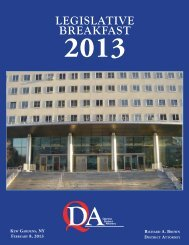 2013 Legislative Breakfast Book - Queens County District Attorney