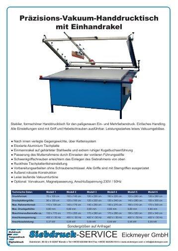 Präzisions-Vakuum-Handdrucktisch mit Einhandrakel