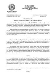 statement - Queens County District Attorney