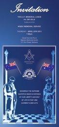 Invites - Queensland Freemasons