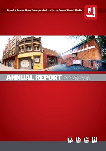 ANNUAL REPORT FY2009–2010 - Queen Street Studio