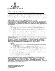 Policy on Protocol Amendments