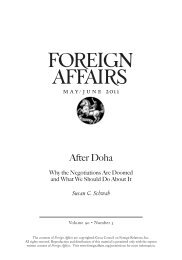 After Doha: Why the Negotiations Are Doomed and