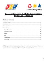 AMS Sustainability Guide - Queen's University
