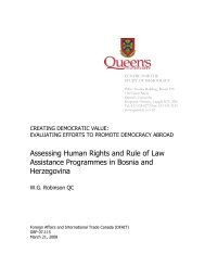 Assessing Human Rights and Rule of Law Assistance Programmes ...