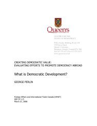 What is Democratic Development? - Queen's University