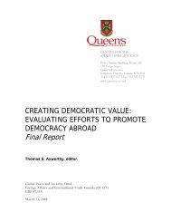 Creating Democratic Value - Queen's University