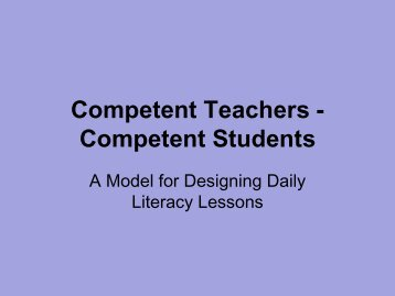 Competent Teachers -Competent Students
