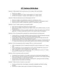 21st Century Skills Quiz - HFM BOCES