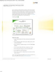 Migrating to Excel 2010 from Excel 2003 - Excel - Microsoft Office