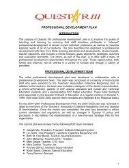 Professional Development Plan (PDF) - Questar III