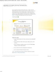 Migrating to Outlook 2010 from Outlook 2003 - Outlook - Microsoft ...