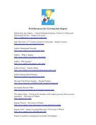 Web Resources for Growing Into Inquiry