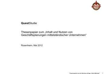 """Thesenpapier zum """"Inhalt und Nutzen von ... - Quest Consulting"""