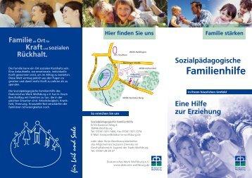 Faltblatt Sozialpädagogische Familienhilfe - Diakonie Wolfsburg