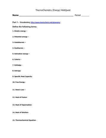 Phase Change Calculation Worksheet q = mcp∆T q for a phase ...