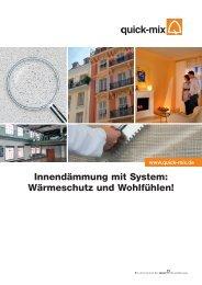 Innendämmung mit System: Wärmeschutz und ... - Quick-Mix
