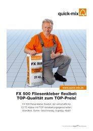 FX 500 Fliesenkleber flexibel - Quick-Mix