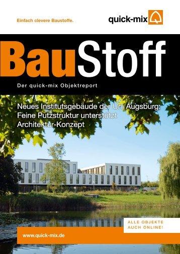 Neues Institutsgebäude der Uni Augsburg - Quick-Mix