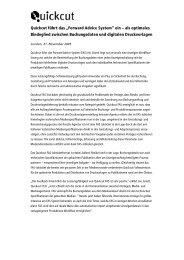 """Pressemitteilung zur Einführung des """"Forward Advice ... - Quickcut"""