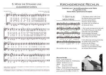 Kirchgemeinde Rechlin - Kuhnle-Tours