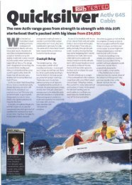 The new Activ range goes from strength to ... - Quicksilver Boats