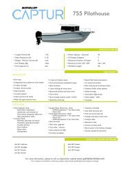 Product Sheet 755 Pilothouse - Quicksilver Boats