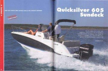 Prova Activ 605 Sundeck - Rivista: Vela E Motore - Quicksilver Boats